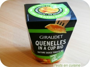 Quenelles in a cup bio Giraudet