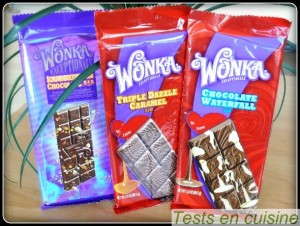 Tablettes de chocolat Willy Wonka