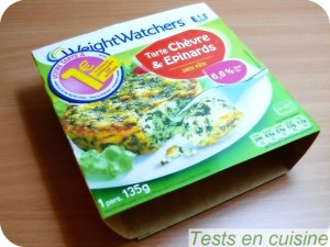 Tarte chèvre épinards Weight Watchers