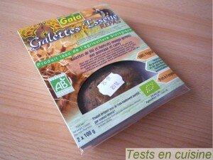 Galettes Essene repas poireaux et curry bio Gaia