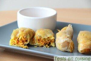 Nems aux crevettes Les P'tits chefs du bio : après cuisson