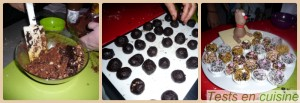Truffes aux marrons, noisettes et chocolat