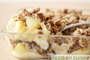 Crumble pommes camembert spéculoos
