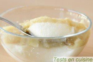 Panna cotta camembert coulis de compote de pommes