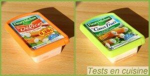 Délices de surimi à la chair de crabe & Le coeur frais fromage ail & fines herbes Fleury Michon