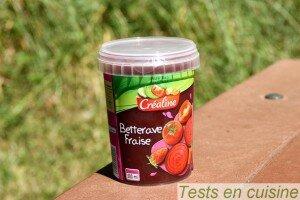 Soupe de betterave fraise Créaline