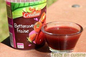 Soupe de betterave fraise Créaline : zoom