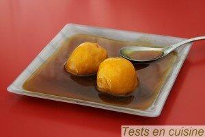 Mes fruits au four minute Alsa saveur caramel tatin :  le résultat
