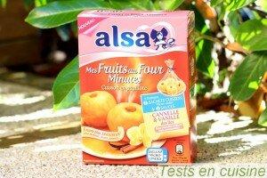 Mes fruits au four minute Alsa vanille cannelle