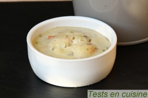 Cassolette Saint-Jacques et Gambas sauce Sancerre Deluxe : cuite