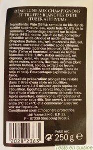 Demi-lunes aux champignons et truffes Deluxe : ingrédients