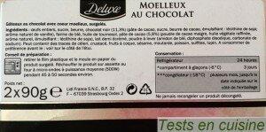Moelleux au chocolat Deluxe : ingrédients