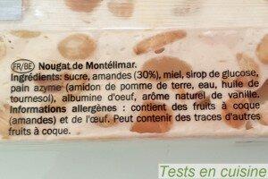 Nougat de Montélimar : ingrédients