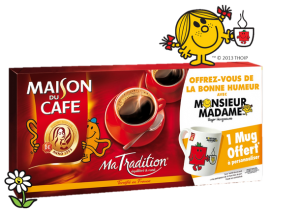 Café Maison du Café et mug Monsieur Madame
