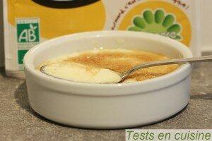Crème brûlée Plaisance bio