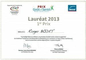 Roger Bodet : 1er prix Goût et Santé MAAF Assurances
