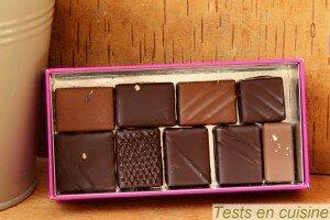Ballotin de chocolat Christophe Roussel : 2ème rangée