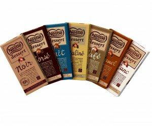 Tablettes de chocolat Nestlé Dessert