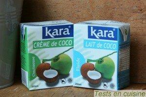 Crème et lait de coco Kara