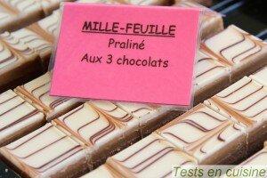 Mille-feuille praliné aux 3 chocolats