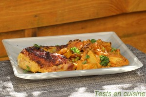 Poulet au bouillon de légumes crémeux