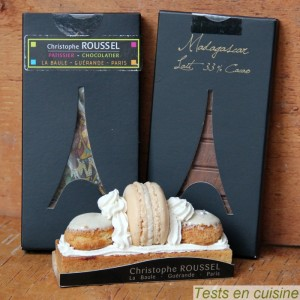 Tablettes de chocolat et tarte à la vanille Christophe Roussel