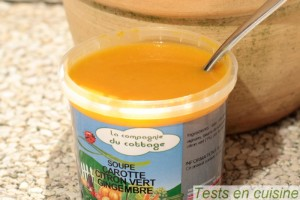Soupe carotte, citron vert et gingembre La Compagnie du Cottage