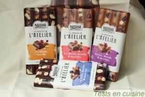 Tablettes de chocolat l'Atelier Nestlé
