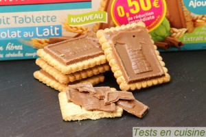 Biscuits tablette chocolat au lait Gayelord Hauser