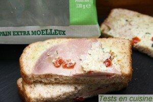 Sandwich Le Méditerranéen Fleury Michon : zoom
