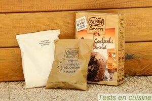 Coeurs coulant au chocolat Nestlé Dessert : les sachets
