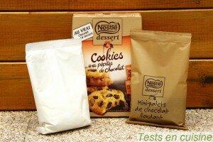 Cookies aux pépites de chocolat Nestlé Dessert : les sachets