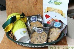 Cookies et mug Subway