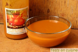 Soupe potimarron, poire et piment Marcel Bio