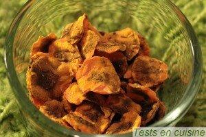 Chips de carotte au thym