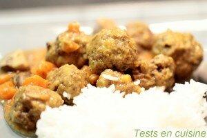 Boulettes de viande à l'indienne recette Tupperware