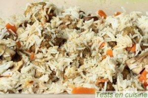 Boulettes de viande à l'indienne avec du riz recette Tupperware