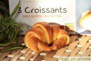 Croissants sans gluten bio Nature & Cie après cuisson