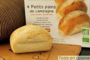 Petits pains de campagne sans gluten bio Nature & Cie après cuisson