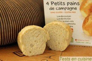 Petits pains de campagne sans gluten bio Nature & Cie : zoom