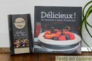 Grillons comestibles Insectéo et livre de recettes de Romaine Fressard