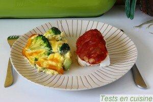 Cabillaud, écailles de chorizo et gratin de brocoli