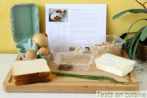 Velouté d'haricots blancs, jaune d'œuf et croûtons truffés : les ingrédients