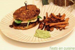 Rösti de potiron et steak de poulet façon burger