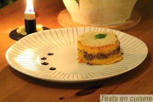Parmentier croustillant de patates douces et confit de canard aux pommes
