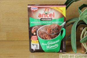 Mug cake moelleux chocolat noisettes Ancel